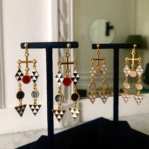 Les Mosaiques Beiges Earrings