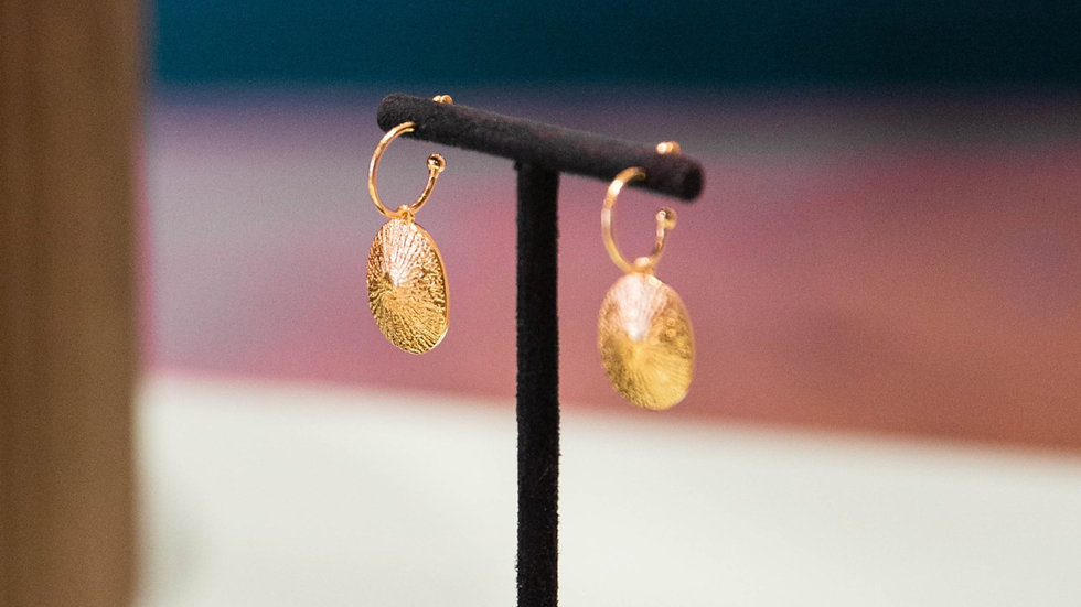 Ethical petite gold hoop earrings