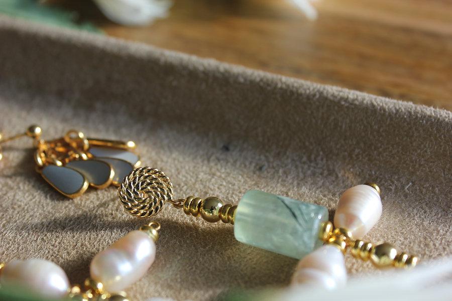 Ondine 2 - Les Nenuphars earrings - MAMA