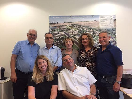 President of Ben Gurion University Prof. Rivka Carmi visiting at Aleh Negev