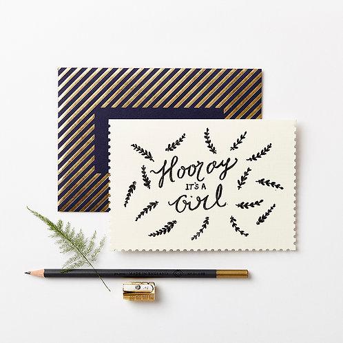 Katie Leamon | Hooray It's A Girl Card