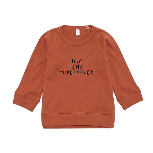 Organic Zoo | Rust Sweatshirt Love