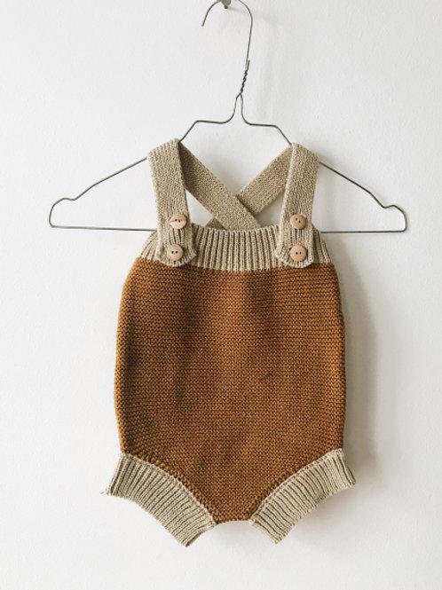 Monkind | Gold Dune Knit Romper
