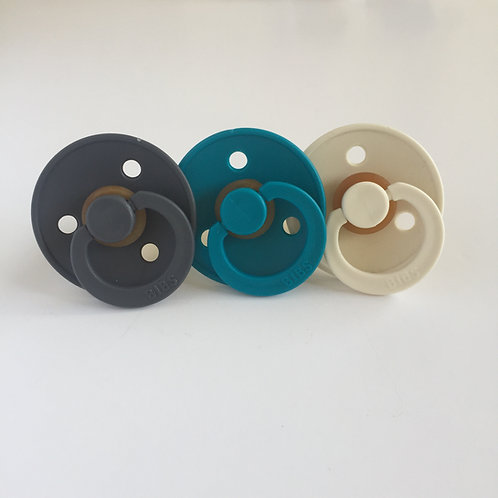 Bibs | Iron, Dark Teal and Ivory Pacifiers (set of 3)