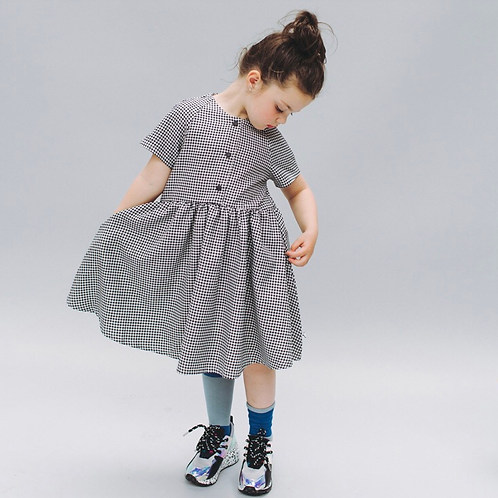 CarlijnQ | Mini Checkers - woven dress