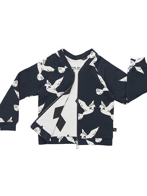 CarlijnQ | Love Birds - Bomberjacket lined with black diamonds