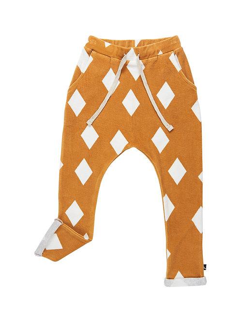 CarlijnQ | Ochre Diamond - velvet sweatpants