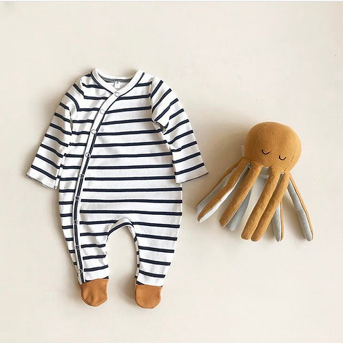 Organic Zoo | Breton Suit with contrast feet