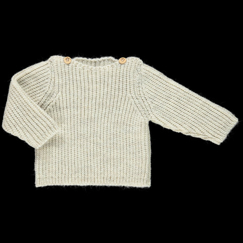 Poudre Organic | Knit Pullover Wasabi Beige