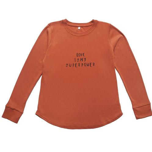 Organic Zoo | Rust Sweatshirt Love Mama