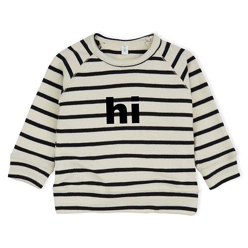 Organic Zoo   Hi Sweatshirt - breton stripe