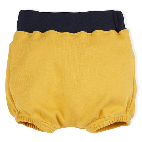 Organic Zoo | Mustard Bloomers with navy detail