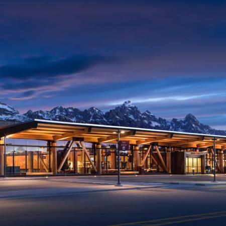 Letiště Jackson Hole, Wyoming, USA