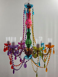Colourful boho chandelier
