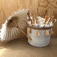 Basket of White Parasols (25)