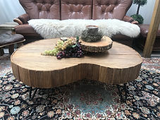 Rustic curved table