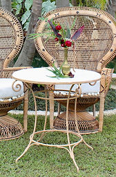 Wrought Iron Signing Table