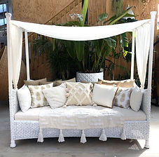 White cane daybed