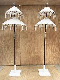 Double tall bali umbrellas