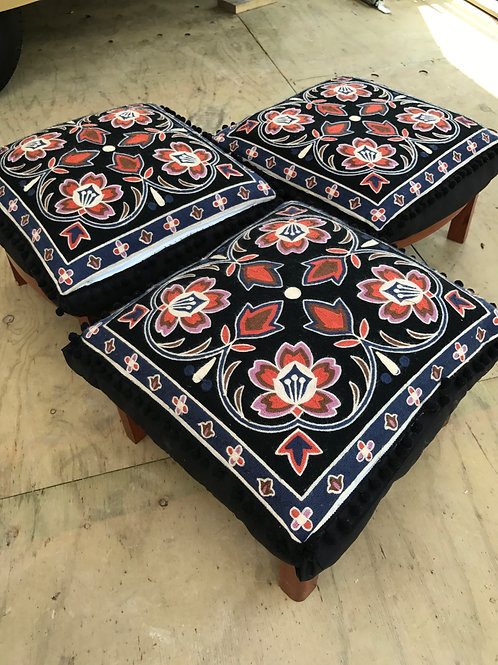 Boho low stools