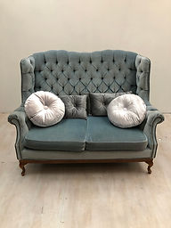Vintage Blue Couch