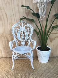 White Heart Chair
