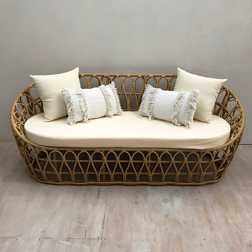 Cane 3 Seater Couch