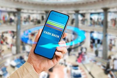 Concept of cash back and customer loyalt