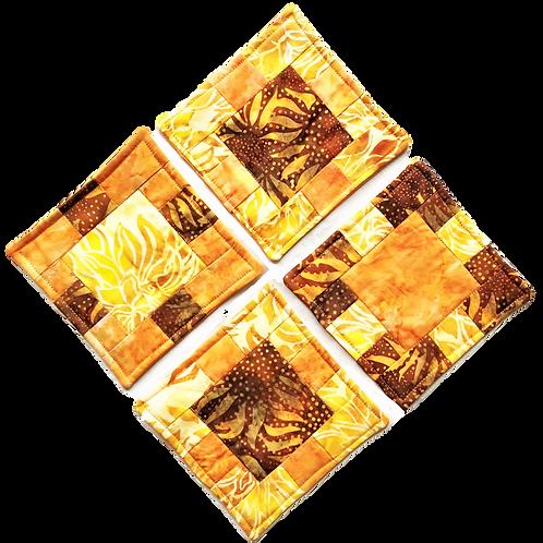 Padded Coaster Set - Gold