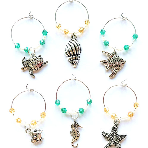 Wine Glass Charms - Seashore