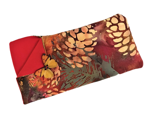 Padded Spectacle Case - Pinecone Red