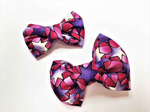 Dog Bow Tie - Pink & Lilac Stars