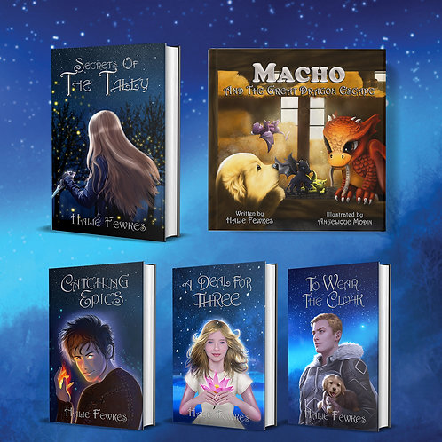 Full 5 Book Bundle- All Hard Cover, Signed Copies