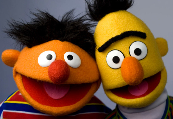 Bert and Ernie from the hit children's series Sesame Street.
