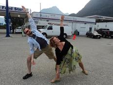 Gas station yoga