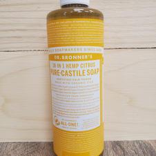 Doctor Bronner's-Hemp Citrus Unscented Pure Castile Soap
