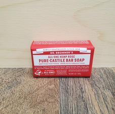 Doctor Bronner's-Hemp Rose Pure Castile Bar Soap