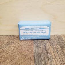 Doctor Bronner's-Hemp Baby Unscented Pure Castile Bar Soap