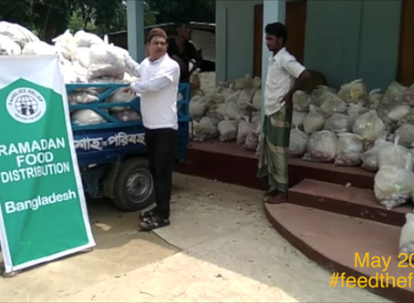 Food Aid Distribution in Burmese refugees in Bangladesh
