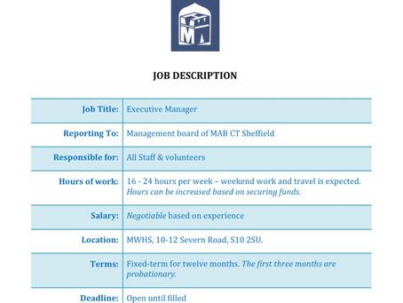 Job Vacancy - Executive Manager MWHS