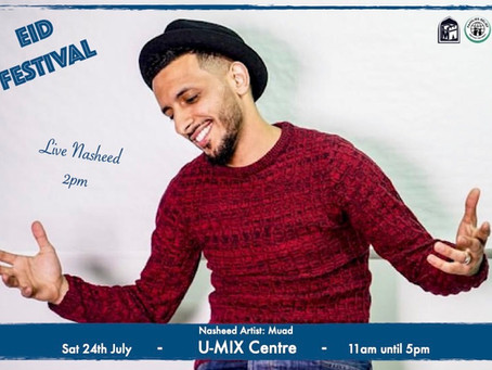 Live Performance from Muad announce for our Eid Festival