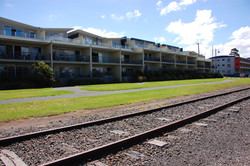 Rail tracks at front of TVU