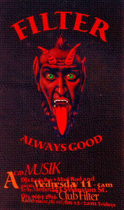 CLUB FILTER Flyer ALWAYS GOOD - DEVIL