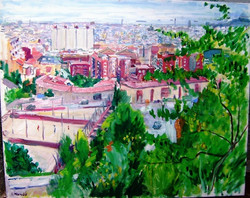 Vista de Barcelona des de santuaris