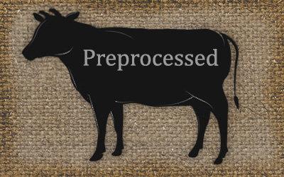 Preprocessed Beef - Eighth / Quarter