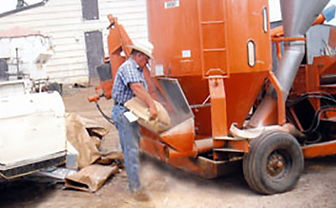 Gary custom mixing supplemental feed