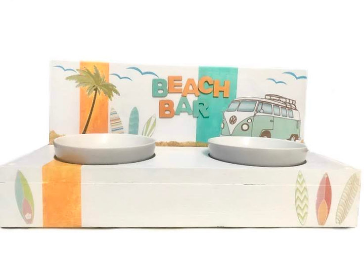 BeachBar 2.0,  Futterbar, Katzennapf, Hundenapf