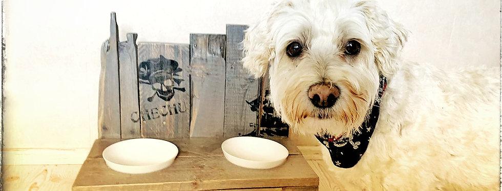 Klabauter Bar, Hundenapf aus 100% altem Holz