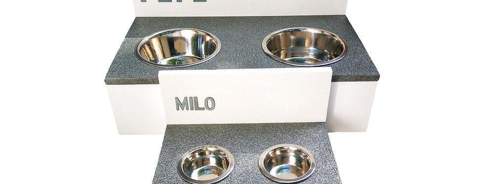 Milo, die Granit Futterbar für Hunde und Katzen, ab