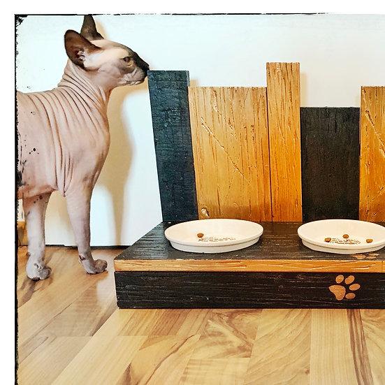 Schwarzes Gold -3er Katzennapf oder Hundenapf